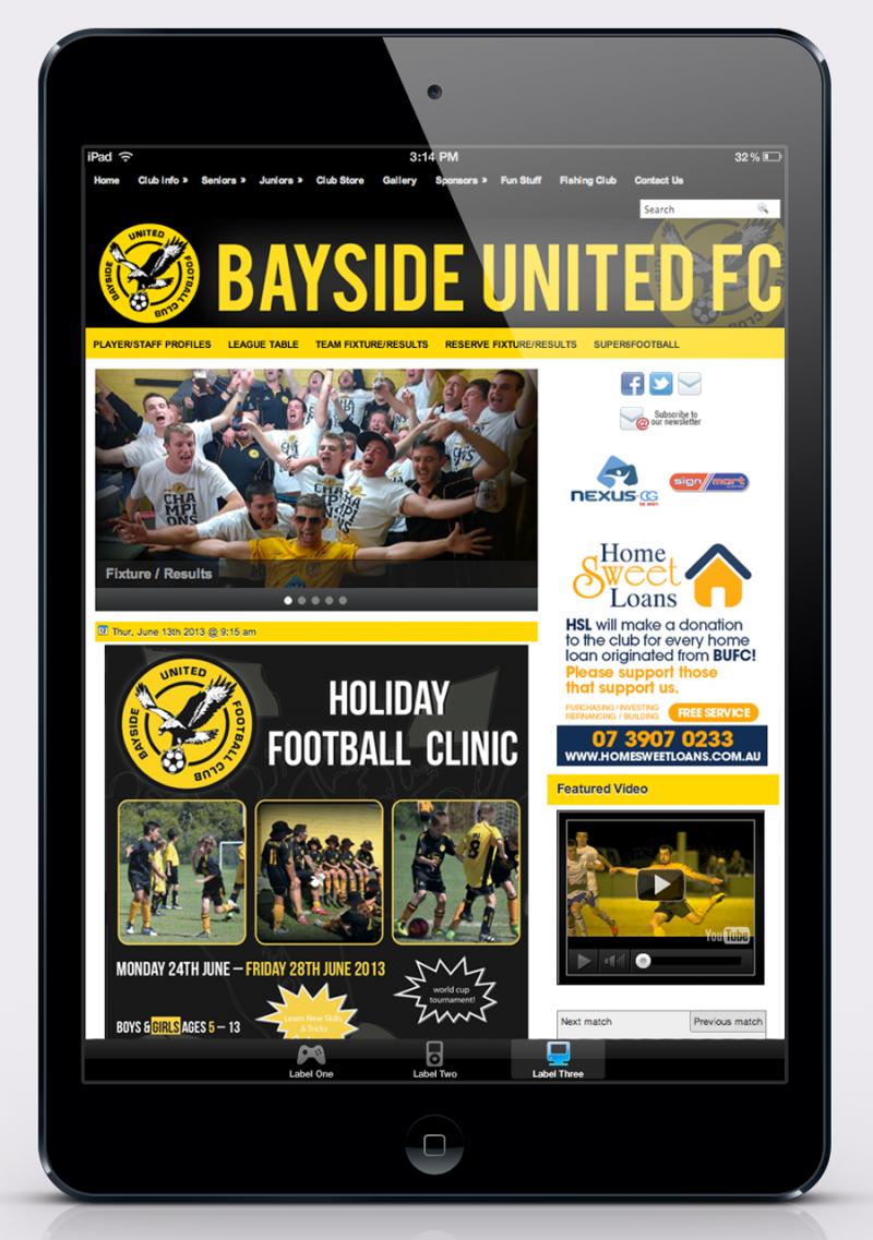Bayside United FC – Website